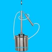 Дистиллятор фланцевый на 50 литров с вертикальной царгой дефлегматором кожухотрубным, на клампе 1,5 -2шт