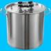 Дистиллятор фланцевый на 37 литров с вертикальной царгой дефлегматором кожухотрубным, на клампе 1,5 -2шт
