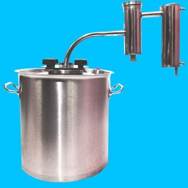 Дистиллятор фланцевый на 13 литров с металлическим-разборным сухопарником ЛЮКС УЛУЧШЕННЫЙ
