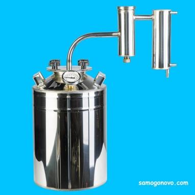 Дистиллятор фланцевый на 50 литров с металлическим-разборным сухопарником