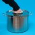 Дистиллятор фланцевый на 37 литров с вертикальной царгой на клампе 1,5, с 2мя от отстойниками