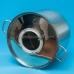 Дистиллятор фланцевый на 25 литров с вертикальной царгой дефлегматором рубашечным, на клампе 1,5