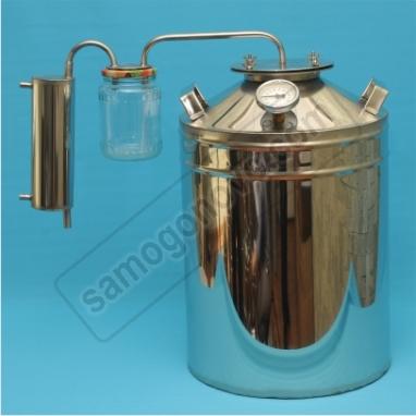 """Бытовой дистиллятор """"Умелец"""" на 35 литров фланцевый, с сухопарником банкой"""