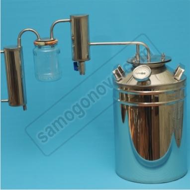 Дистиллятор бытовой 20л фланцевый с двумя сухопарниками  для индукционных плит