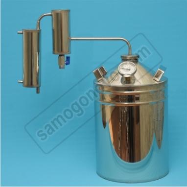 """Бытовой дистиллятор """"Умелец"""" на 20 литров с металлическим сухопарником"""