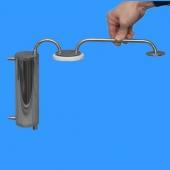 """Холодильник спиральный с сухопарником-банкой под кламп 1,5"""""""