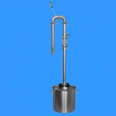 Самогонный аппарат на кламповых соединениях Умелец-комфорт на 37 литров