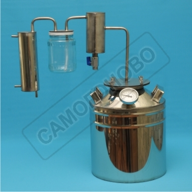 Дистиллятор бытовой 13л фланцевый с двумя сухопарниками  для индукционных и эл. плит