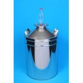 Ёмкость для брожения фланцевая с гидрозатвором и термометром 13л